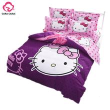 Hello kitty Bedding Set 4pcs include Duvet Cover Bed Sheet Pillowcase Children Kids Comforter Bedding Sets housse de couette(China (Mainland))