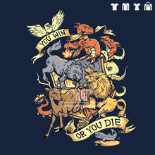 Game of thrones you win or you die house sigil men unisex t-shirt  100% ringspun cotton short sleeve straight cut big size