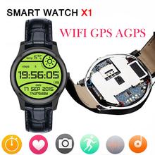 Новый оригинальный круг мини X1 3 г android-автомобильный часы X1 smartwatch 1.3 дюймов IPS android-заводские 4.4 с GPS wi-fi SIM сердечного ритма