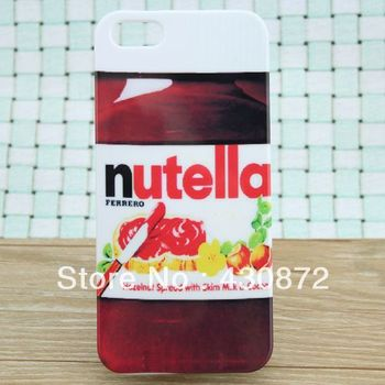 Nice Nutella case for iphone 5 cell phone cases covers to iphone5 free shipping