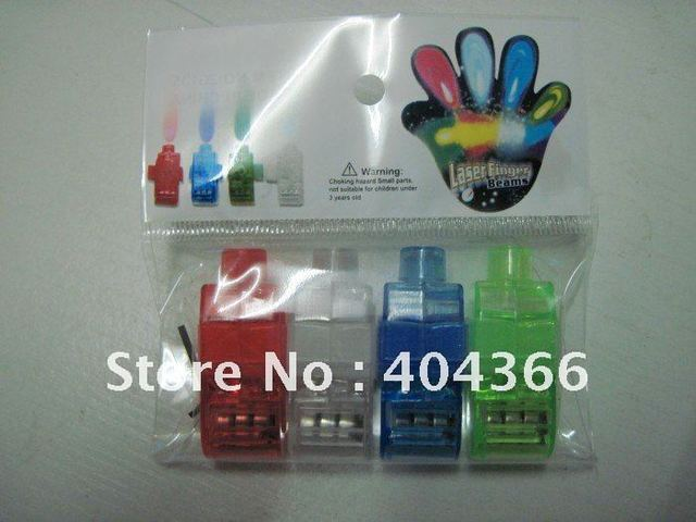 500 pcs/lot (125 packs) Colorful Finger Lamp Laser Led Finger Lights Halloween Light Cristmas Festival Gift (OPP bag)