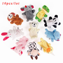 Cartoon Animal Velvet Finger Puppet Finger Toy Finger Doll Baby Cloth Educational Hand Toy Story Free Shipping(China (Mainland))
