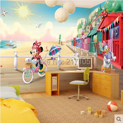 Free shipping custom large murals. 3 D three-dimensional cartoon, the living room TV wall bedroom wallpaper(China (Mainland))