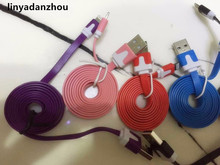 Buy linyadanzhou Noodles micro usb cable iphone 6 6plus 5 5s 7 7 plus Support ios8 double color usb charger Sync Data Cable for $2.00 in AliExpress store