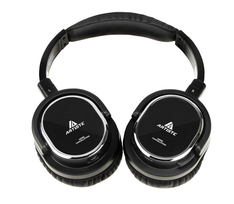 Active Noise Cancelling Headphone Artiste ARKON AWN100 Noise Reduction Headset Auriculares Separable Cable With Microphone(China (Mainland))