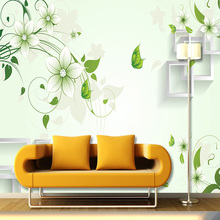 Buy Custom Size Mural Wallpaper TV Background Wall Modern Fresh Minimalist Flowers Vine Wall Mural Bedroom Wall Paper Designs for $11.44 in AliExpress store