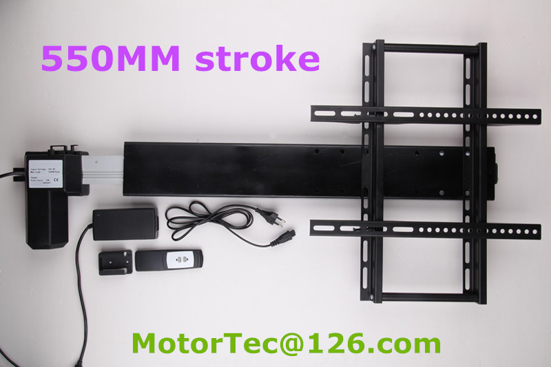 550mm stroke Automatic TV lifter TV mount with mounting brackets for 26-60inch TV(China (Mainland))