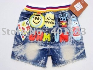 Mixed  Free Shipping Wholesale 10pc/lot children jeans,short pants,shorts baby clothing children's jeans fashion jeans/8866