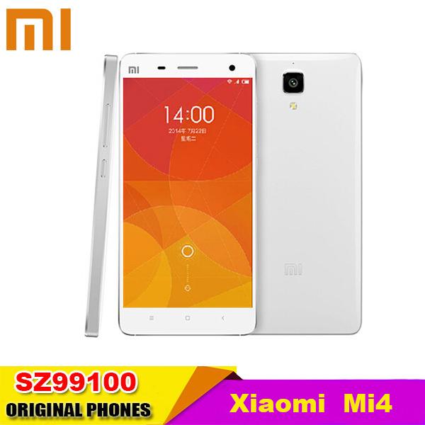 Original Xiaomi Mi4 M4 Mi4i 16GB WCDMA FDD LTE Mobile Phone OS Snapdragon 801 quad core 2.5GHz Screen1920*1080P Camera 13MP(China (Mainland))