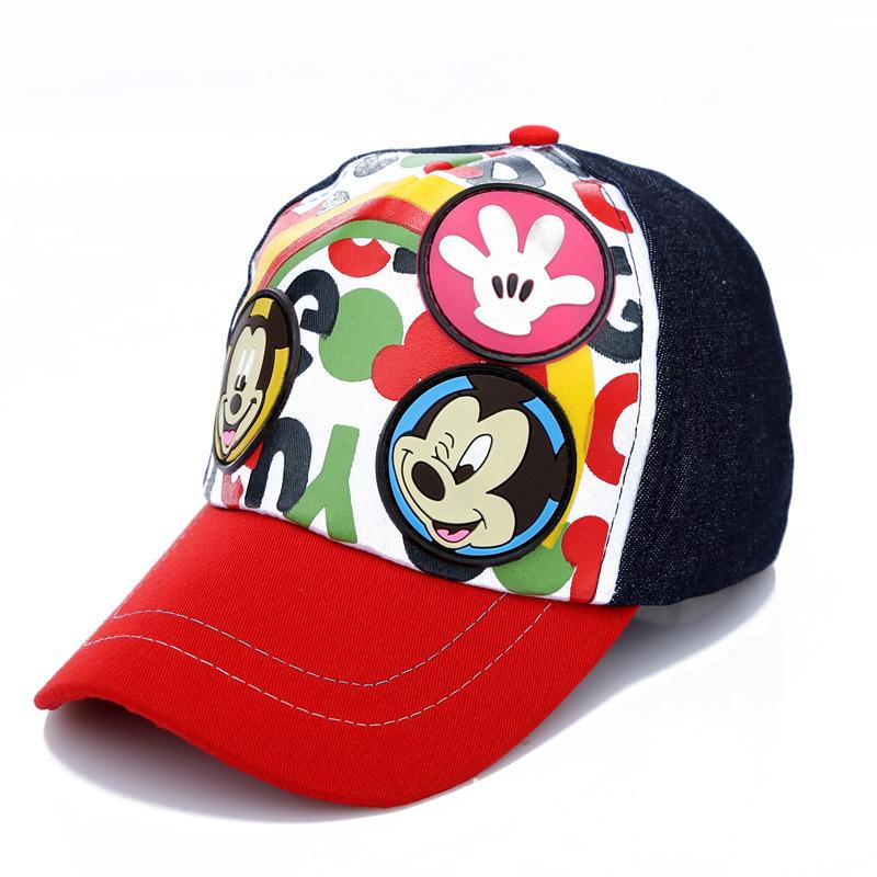 2015 Summer New Product Boys Girls Summer Baseball Caps Child Cartoon Mickey Minnie mouse Caps Kids Outdoor Leisure Sun Hats(China (Mainland))