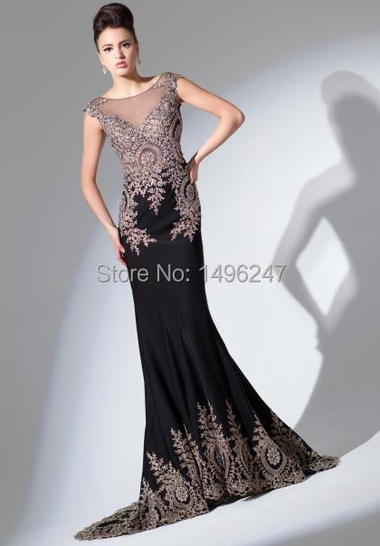 Cheap plus size black formal dresses