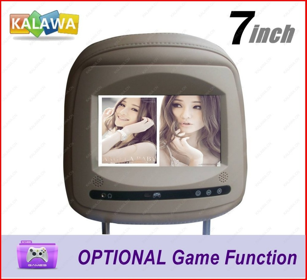 """One PC 7"""" inch Special Car Pillow Headrest Monitor Touch Button, optional GAME function Replacement for TOYO-TA Model-718 GGG(China (Mainland))"""