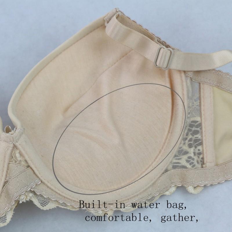 2016 חדש תחרה, חזיות מוצק הלבשה תחתונה סקסית לנשים Bralette נוח כותנה קשת דקורטיבי 3/4 כוס רצועה חזייה לנשים 2334-1#