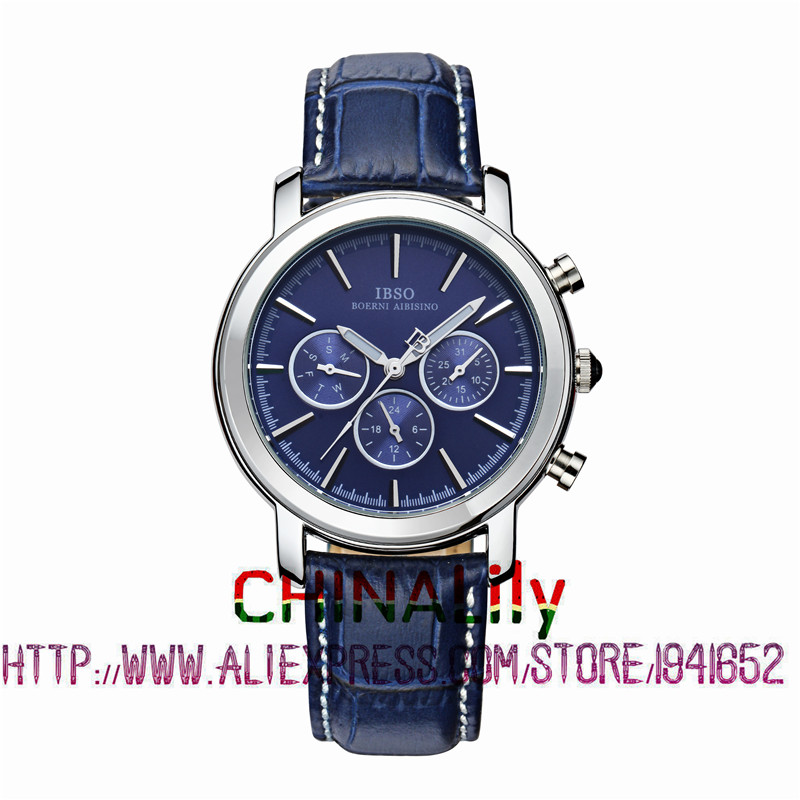 2015 Selling Brand IBSO BOERNI AIBISINO Unisex Ultra Thin Round Dial Analog Wrist Watch with Waterproof &amp; Leather Band 6809<br><br>Aliexpress