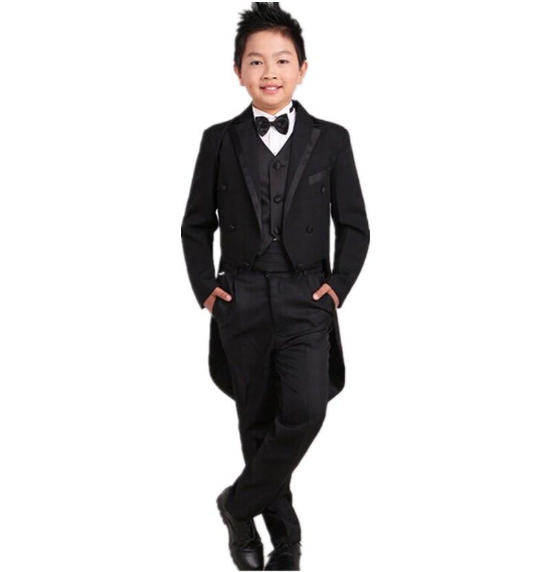 De los niños de smoking de la boda vestidos niña piano traje de niño esmoquin kids