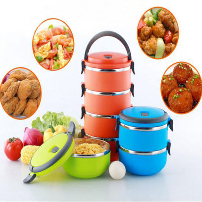 portable 4 layers stainless steel thermal insulated lunch box bento food cont. Black Bedroom Furniture Sets. Home Design Ideas