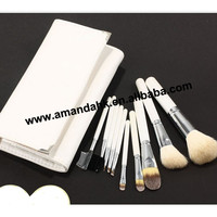 20set/lot 10Pcs White Professional Cosmetic Makeup Eye shadow Eyeliner Brushes Set + Bag