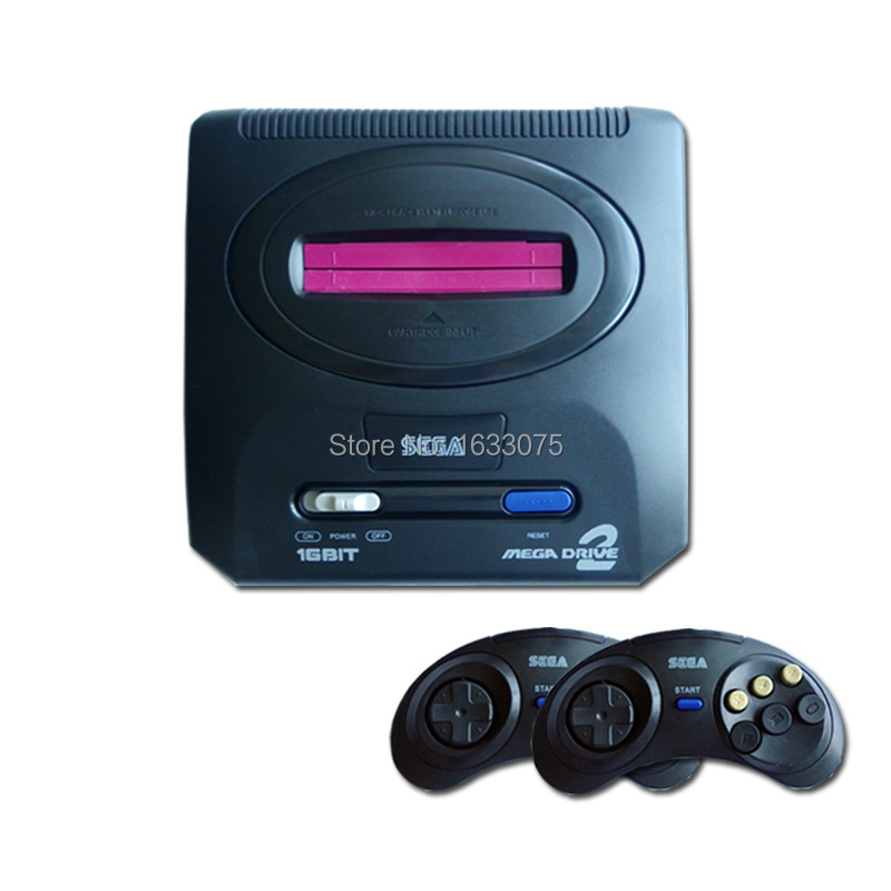 SEGA Mega Drive 2/ MD 16 Bit Black card video game console/built-in with Standard configuration(China (Mainland))