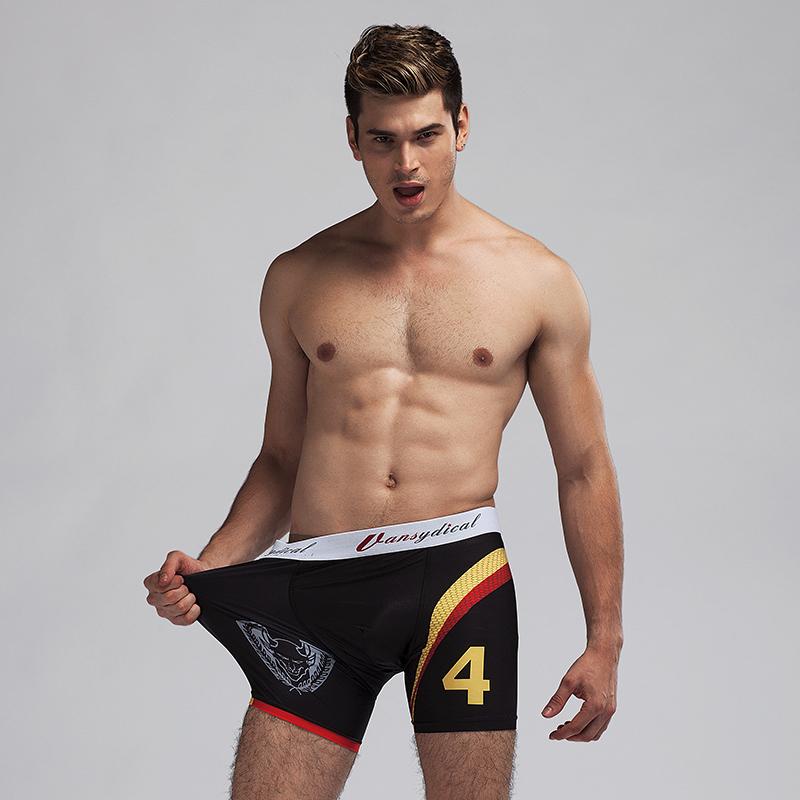 Men 39 s la base capa ropa interior boxer corto spandex y for Ropa interior para correr