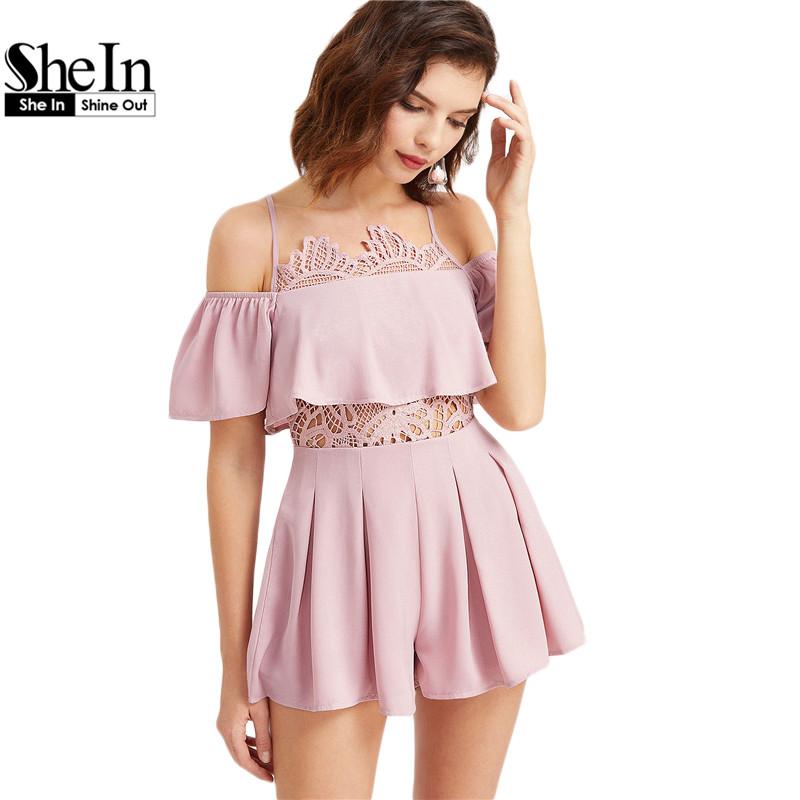 Online kaufen gro handel frauen rosa overall aus china for Shein frauen mode