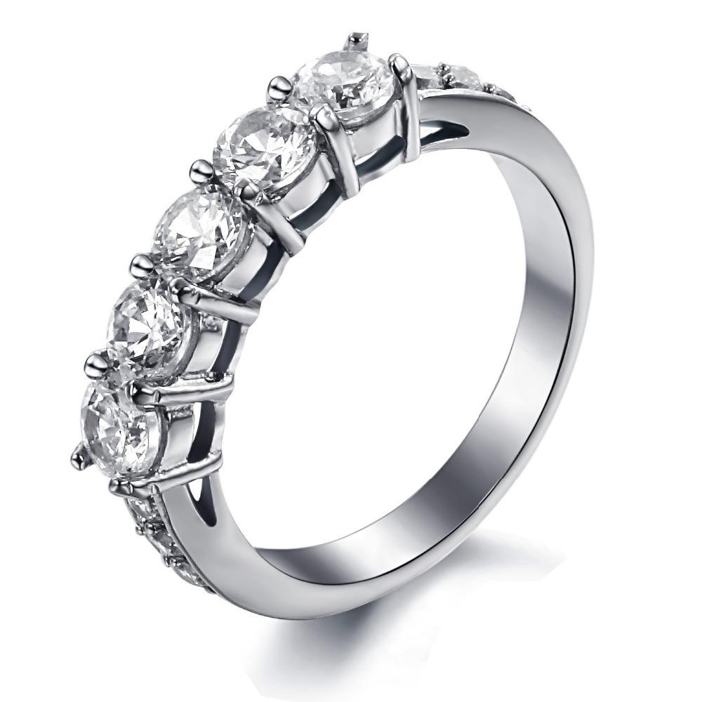2015 New Jewelry Fashion Trend Exquisite Boutique Korean Crystal Titanium Steel Ring Female Gj7645 - kiki fashion jewelry ( worldwide store)