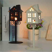 Retro house holder streetlight holder retro typhoon Candlestick aromatherapy creative student gift(China (Mainland))
