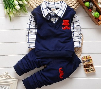 2015 new spring autumn Baby boy clothing sets products kids clothes set boys high quality cotton long sleeve t-shirts+pants set