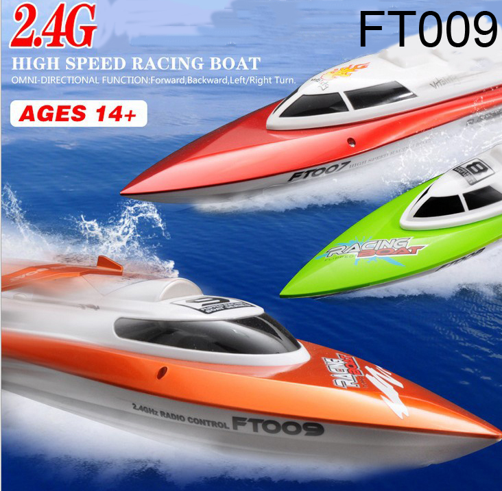 FT009 2.4G High Speed Racing RC Boat with Water Cooling motor system 30KMH+Best Gift bateau remote control boat rc ship(China (Mainland))