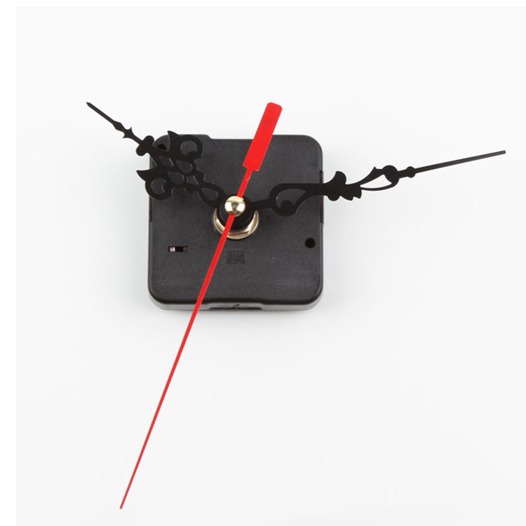 Chic Hot Black Quartz Clock Movement Mechanism Repair DIY Tool Kit + Red Hand(China (Mainland))