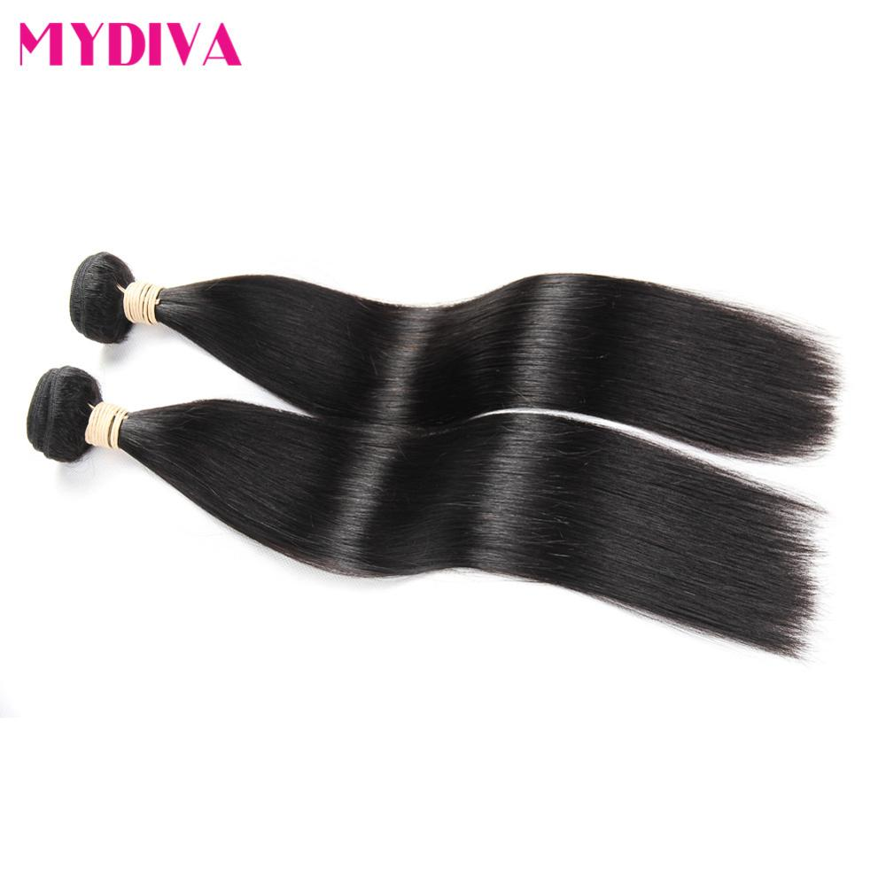Straight hair perm products - Brazilian Virgin Hair Straight 2 Bundles 8a Unprocessed Straight Human Hair Weave Mydiva Hair Products Brazilian Straight Hair