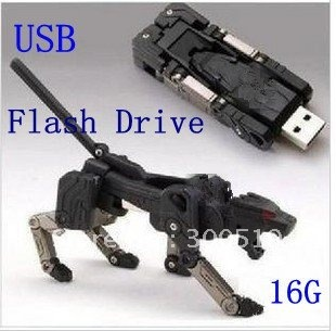 OF006 Hot selling Robot dog USB flash drive disk 16GB USB flash memory computer accessory