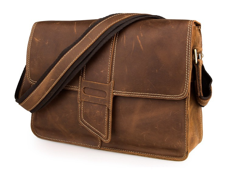 Maxdo Vintage 100% Guarantee Real Genuine Crazy Horse Leather Cross Body Men Messenger Bags #M7263(China (Mainland))