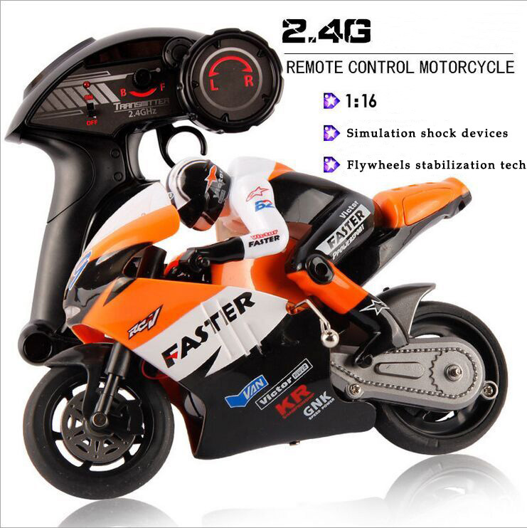 JXD 1:16 Scale 4CH 2.4G RC Motorcycle Boys Electric Toys CVT Radio Control Stunt Drift Motorcycles(China (Mainland))