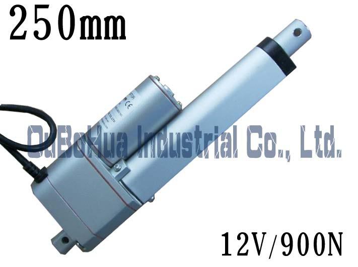 Best seller !12V 250mm/ 10inch stroke,900N / 90KG load linear actuator Linear motor potentiometer(China (Mainland))