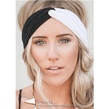 New 14 Colors Women Stretch Twist Headband Turban Sport Yoga Head Wrap Bandana Turbante Hair Accessories Free Shipping A0399(China (Mainland))