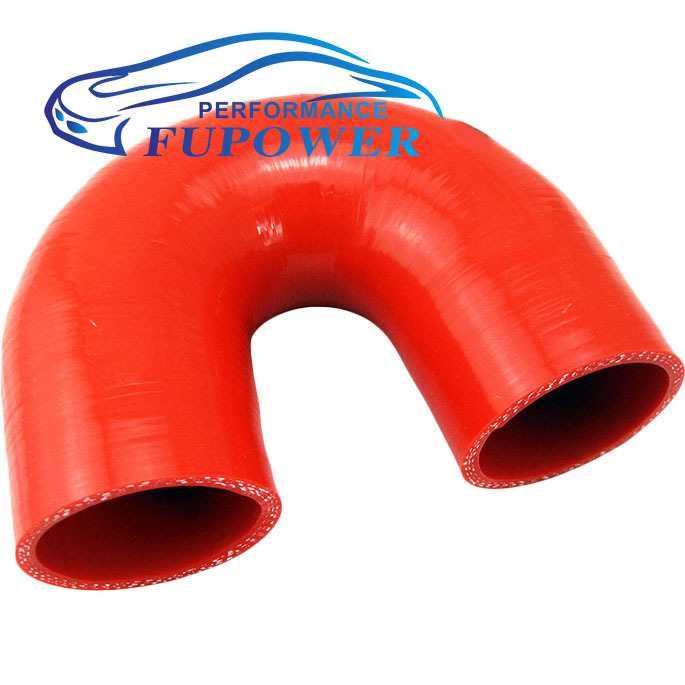 """180 Deg 102mm length 3.5""""inch or 89mm Silicone Elbow Hose Bend Silicon Rubber Coolant Radiator Pipe Tube Car red(China (Mainland))"""