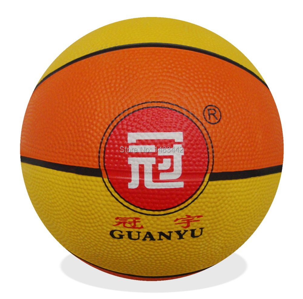 Free shipping - manufacturer promotions, 3# multicolor, low-cost, rubber basketball J-W027(China (Mainland))
