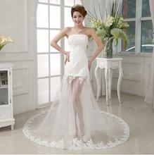 Free Shipping New A Line Lace Sweatheart Sleeveless White Satin Bridal Wedding Dress Wedding Gown Vestido De Noiva 30239