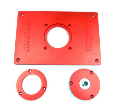Router Table Insert Plate With Pre-drilled Holes and Removable Rings to Match Different Bit Diameters(China (Mainland))