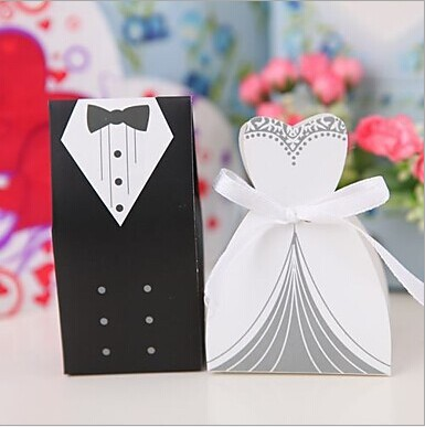 2015 Hot Sale Western Style Bride and Groom Box !!! 100pcs Bride and Groom Wedding Favor Boxes Gift box Candy box 2015(China (Mainland))