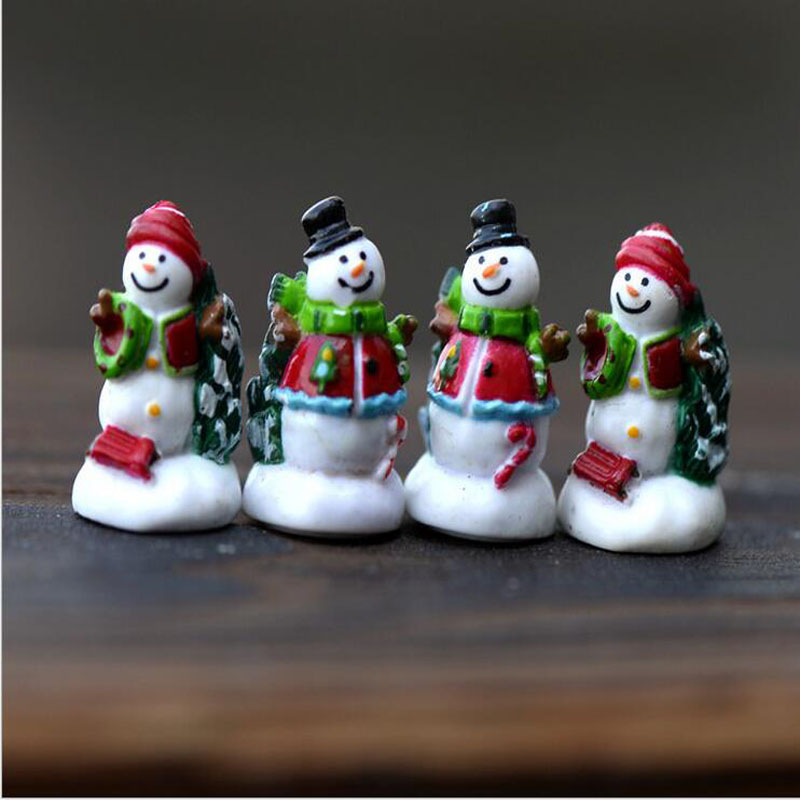 Miniature,Landscape moss micro mini cute snowman Christmas tree ornaments pine small ornaments toys assembled DIY(China (Mainland))