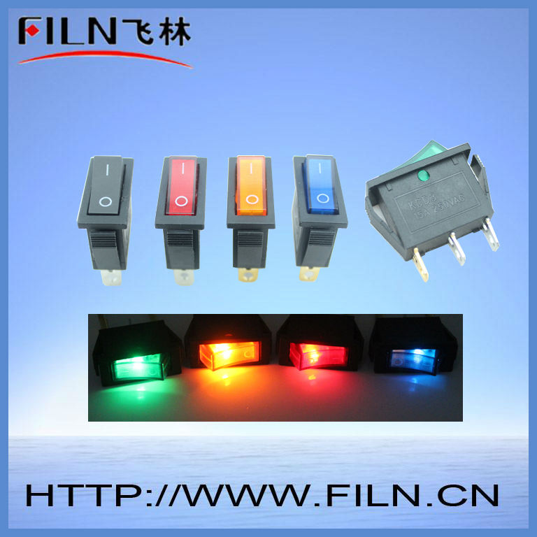 on off mini rocker switch colorful 15a 250v<br><br>Aliexpress