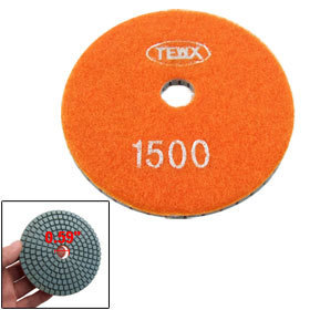 "4"" 1500 Grit Granite Stone Marble Buff Diamond Polishing Pad Disc 5.5mm Thick 2 Pcs(China (Mainland))"