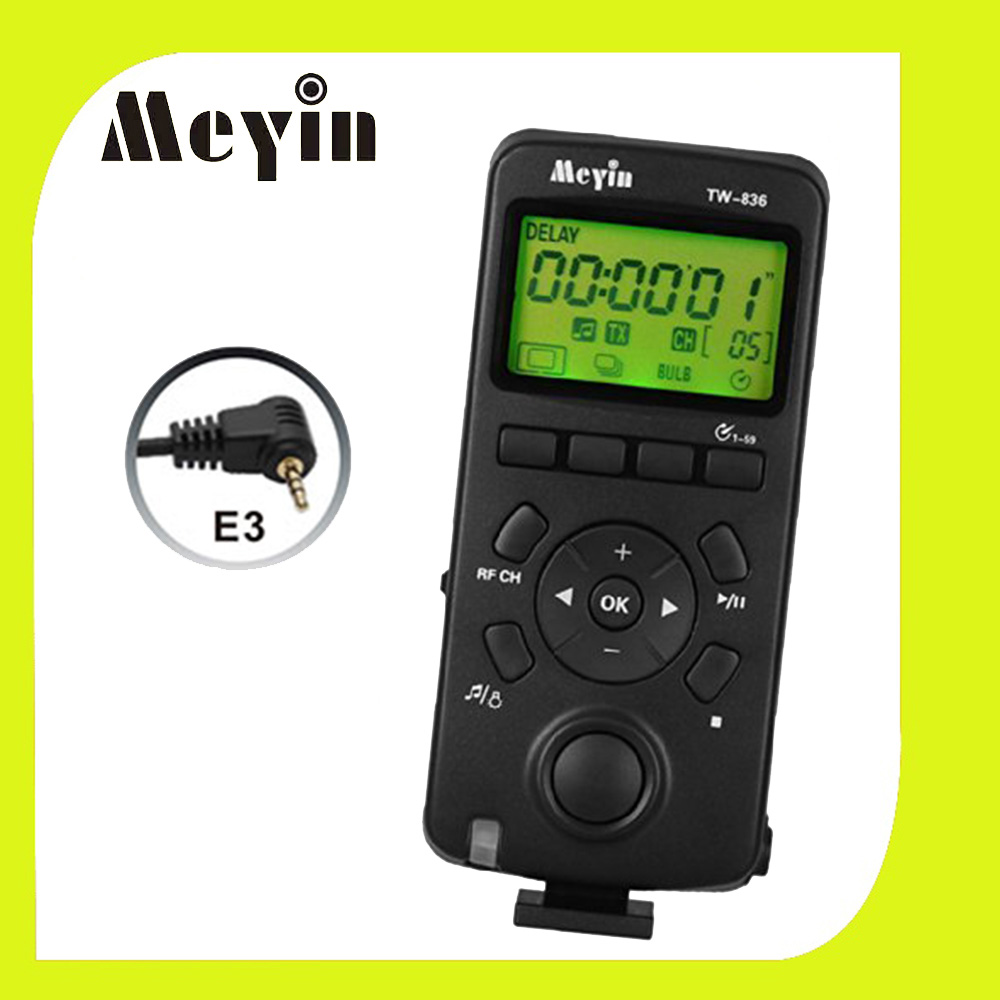 Meyin TW-836/E3 Wireless LCD Timer Remote Control Shoot Shutter Release Cable for Canon EOS Pentax Samsung DSRL Camera(China (Mainland))