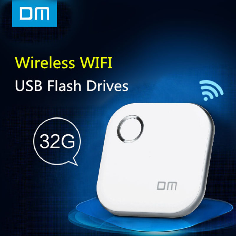 DM WFD015 Wireless USB Flash Drives 32GB Wifi For iPhone / Android / PC Smart Pen Drive usb memory stick Multiplayer flash(China (Mainland))