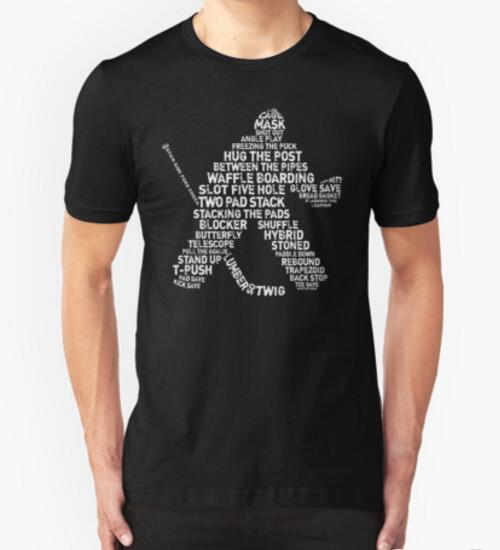 New Summer Style Men Tee Shirts Ice Hockey Calligram Typography t Shirt Print Custom Personalized Cotton T shirt Clothing(China (Mainland))