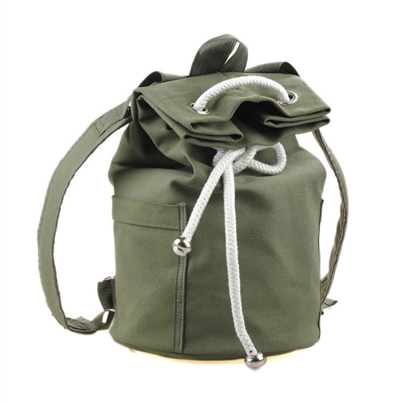 New large capacity men drawstring backpack canvas bucket bag unisex Fashionable concise basketball bags<br><br>Aliexpress