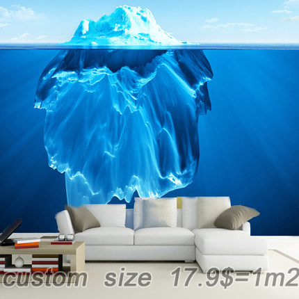 store product Free shipping D ocean iceberg Office background wallpaper bedroom large mural ice study children s room