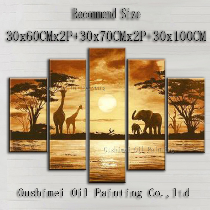 Здесь можно купить  Hand-painted High Quality Modern Landscape Oil Painting On Canvas Golden Background Africa Landscape Oil Painting Decoration  Дом и Сад