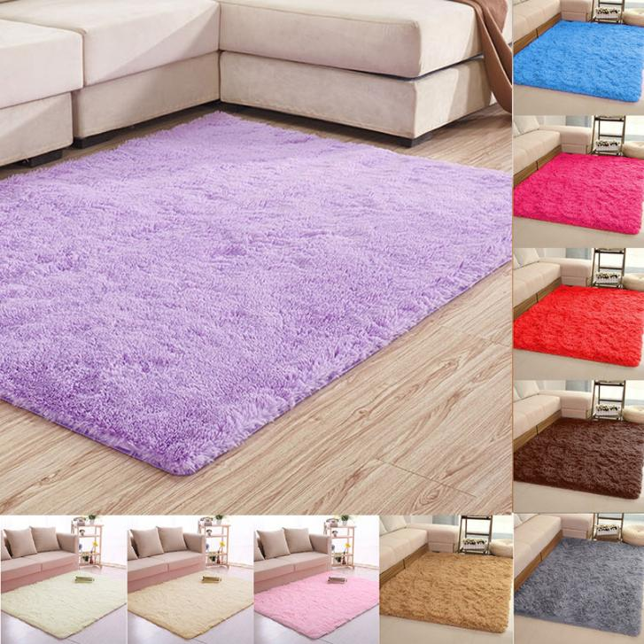 80120cm large size fluffy rugs antiskid shaggy area rug dining room carpet